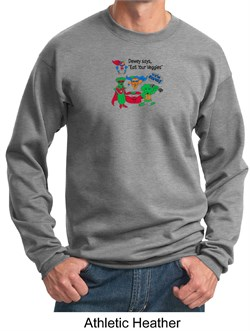 Image of Vegan Shirt Adult Sweat Shirt - Dewey Says Sweatshirt