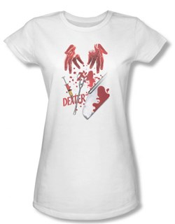Image of Dexter Juniors Shirt Tools Of The Trade White T-shirt Tee