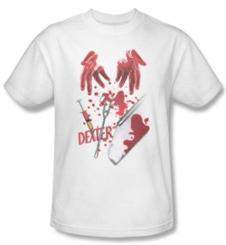 Image of Dexter Shirt Tools Of The Trade Adult White T-Shirt Tee