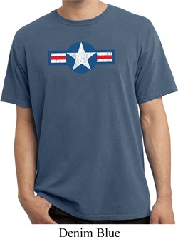 Image of Distressed Air Force Star Pigment Dyed Shirt