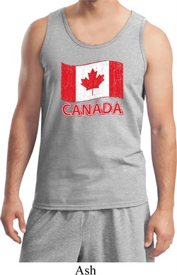 Image of Distressed Canada Flag Mens Tank Top