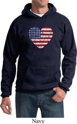 Image of Distressed USA Heart Hoodie