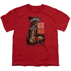 Image of Doctor Mirage Kids Shirt Talks To The Dead Red T-Shirt
