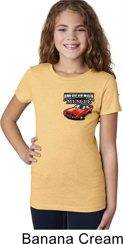 Image of Dodge American Made Muscle Pocket Print Girls Shirt