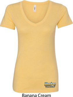 Image of Dodge Dart Bottom Print Ladies V-Neck Shirt