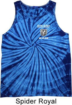 Image of Dodge Guts and Glory Ram Logo Pocket Print Tie Dye Tank Top
