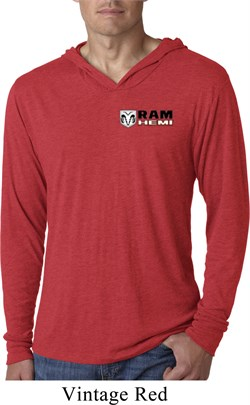 Image of Dodge Hemi Pocket Print Lightweight Hoodie Shirt