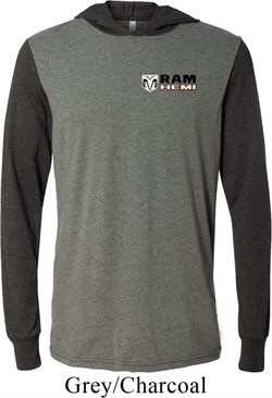 Image of Dodge Hemi Pocket Print Lightweight Hoodie Tee