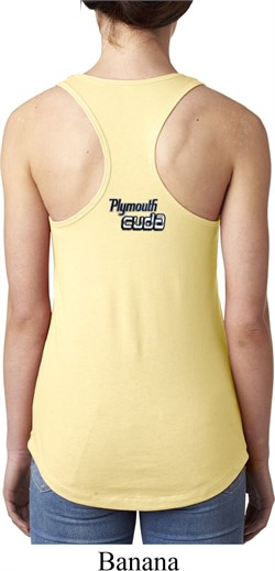 Image of Dodge Plymouth Cuda Neck Print Ladies Ideal Tank Top