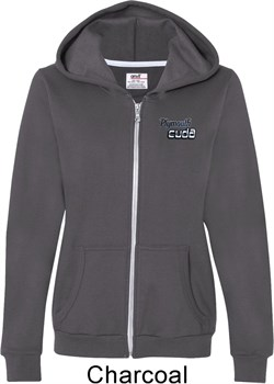 Image of Dodge Plymouth Cuda Pocket Print Ladies Full Zip Hoodie