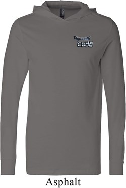 Image of Dodge Plymouth Cuda Pocket Print Lightweight Hoodie Tee