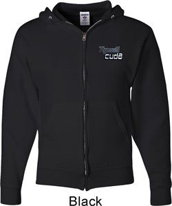 Image of Dodge Plymouth Cuda Pocket Print Mens Full Zip Hoodie