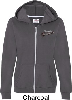 Image of Dodge Plymouth Roadrunner Pocket Print Ladies Full Zip Hoodie