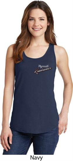 Image of Dodge Plymouth Roadrunner Pocket Print Ladies Tank Top