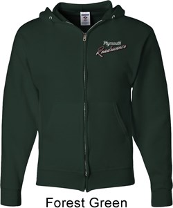 Image of Dodge Plymouth Roadrunner Pocket Print Mens Full Zip Hoodie