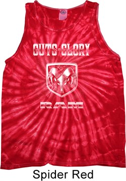Image of Dodge Tanktop Guts and Glory Ram Logo Tie Dye Tank Top