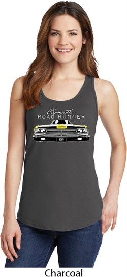 Image of Dodge Yellow Plymouth Roadrunner Ladies Tank Top
