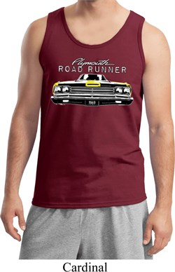 Image of Dodge Yellow Plymouth Roadrunner Mens Tank Top