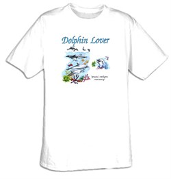 Dolphin T-shirt - Dolphin Lover Adult Aquatic Tee