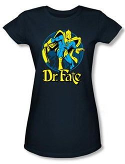 Dr. Fate Juniors T-shirt ? ANKH DC Comics Navy Blue Tee
