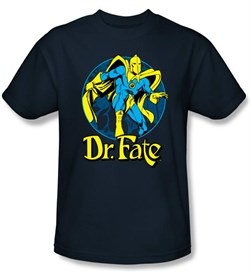 Dr. Fate T-shirt ? ANKH DC Comics Adult Navy Blue Tee