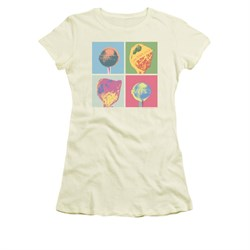 Image of Dum Dums Shirt Juniors Pop Art Cream T-Shirt