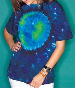 Image of Tie Dye T-shirt Earth Adult Unisex Tee