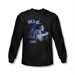 Image of Edward Scissorhands Shirt Hold Me Long Sleeve Black Tee T-Shirt