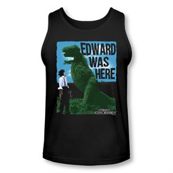 Image of Edward Scissorhands Tank Top Edward Was Here Black Tanktop
