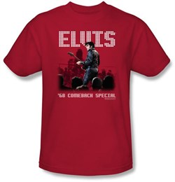 Elvis T-shirt - '68 Comeback Special - Red