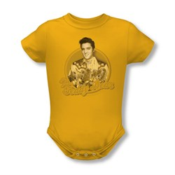 Elvis Presley Baby Romper Teddy Bear Gold Infant Babies Creeper