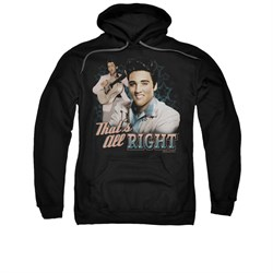 Image of Elvis Presley Hoodie That's All Right Black Sweatshirt Hoody