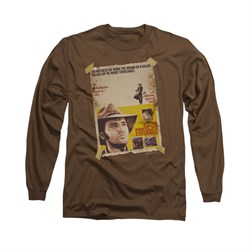 Image of Elvis Presley Shirt Charro Long Sleeve Coffee Tee T-Shirt