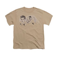 Image of Elvis Presley Shirt Kids American Trilogy Sand T-Shirt