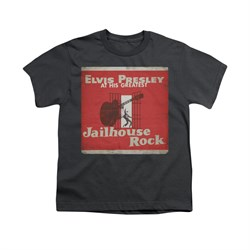 Image of Elvis Presley Shirt Kids At His Greatest Charcoal T-Shirt