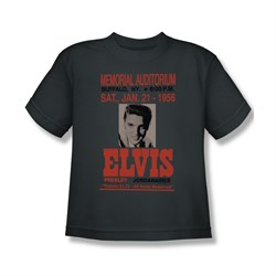 Image of Elvis Presley Shirt Kids Buffalo 1956 Charcoal T-Shirt