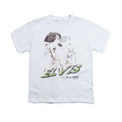 Elvis Presley Shirt Kids Is A Verb White T-Shirt