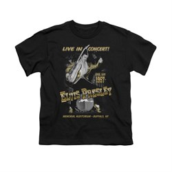Image of Elvis Presley Shirt Kids Live In Buffalo Black T-Shirt