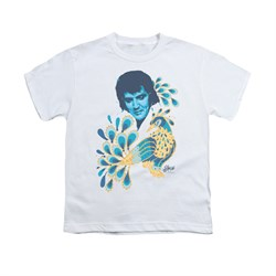 Elvis Presley Shirt Kids Peacock White T-Shirt