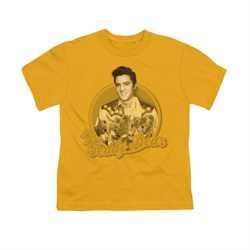 Elvis Presley Shirt Kids Teddy Bear Gold T-Shirt