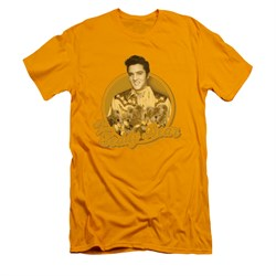 Elvis Presley Shirt Slim Fit Teddy Bear Gold T-Shirt