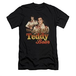 Elvis Presley Shirt Slim Fit Teddy Bears Black T-Shirt