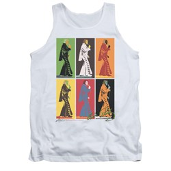 Image of Elvis Presley Shirt Tank Top Retro Boxes White Tanktop