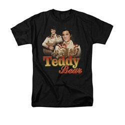 Elvis Presley Shirt Teddy Bears Black T-Shirt
