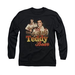 Elvis Presley Shirt Teddy Bears Long Sleeve Black Tee T-Shirt