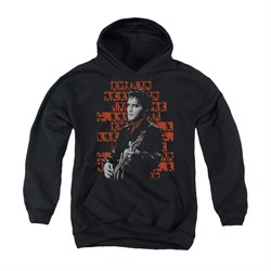 Image of Elvis Presley Youth Hoodie 1968 Black Kids Hoody