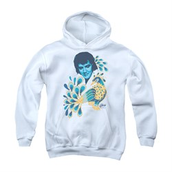 Elvis Presley Youth Hoodie Peacock White Kids Hoody