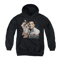 Image of Elvis Presley Youth Hoodie That's All Right Black Kids Hoody