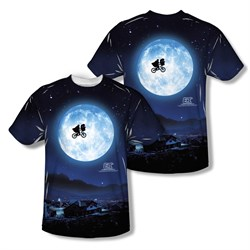 Image of ET Shirts - Extra Terrestrial Moon Sublimation Kids Shirt Front/Back Print