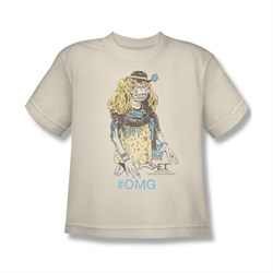 Image of ET Shirts - Extra Terrestrial Shirt Kids Dressed Up Cream Youth Tee T-Shirt